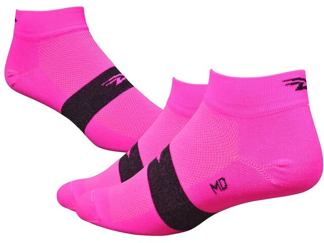"""DeFeet Aireator 1"""" Sokken, team defeet hi-vis pink/black stripe"""